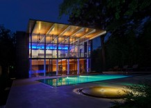House Designed by Architect Gary Cunningham - Highland Park Pool House