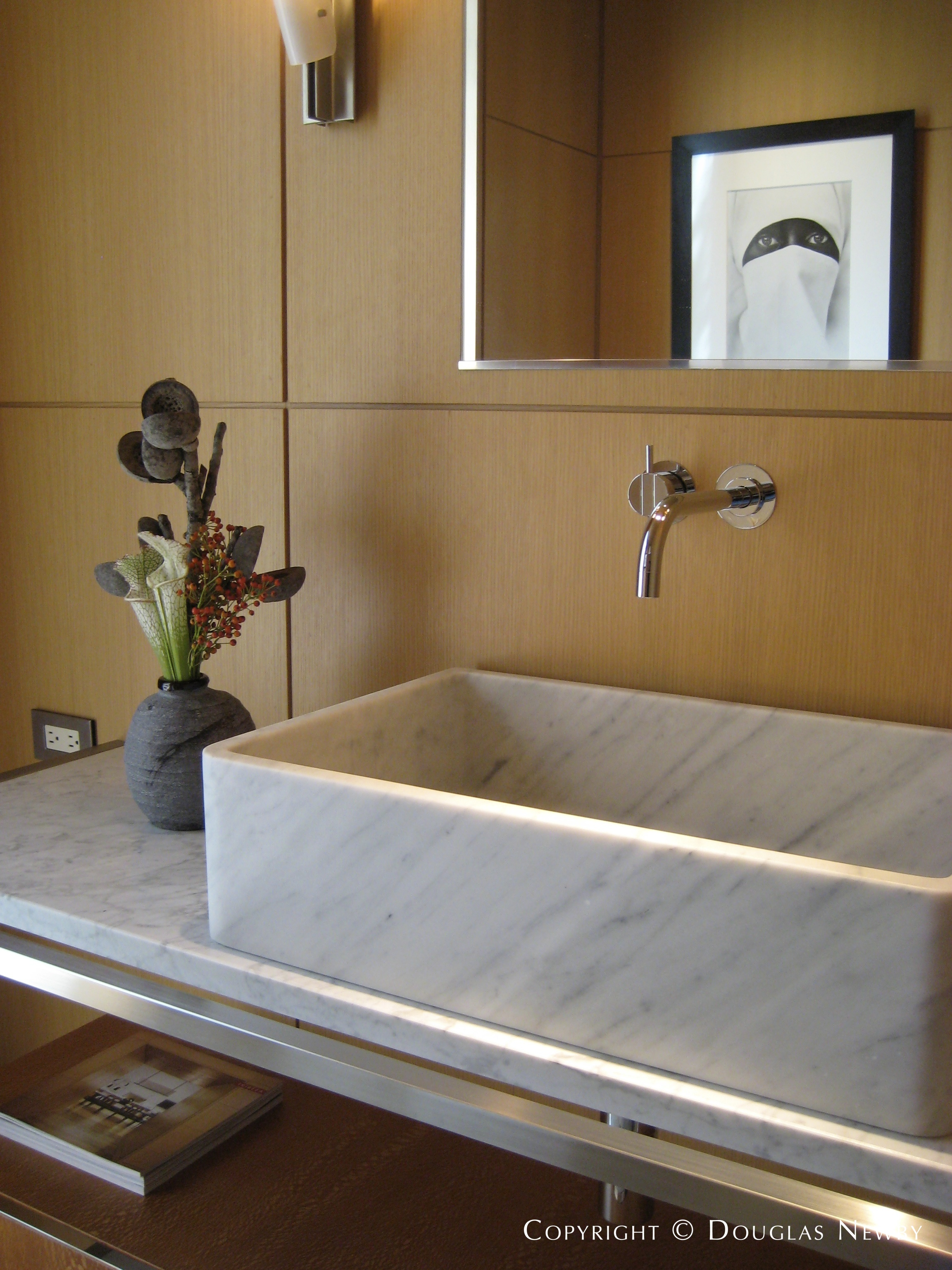 Guest Powder Room in Frank Welch Home by Paul Draper