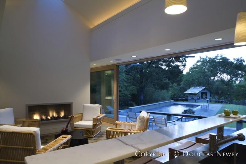 Paul draper designed pool house interior photograph 32009 - Newby house interiors ...