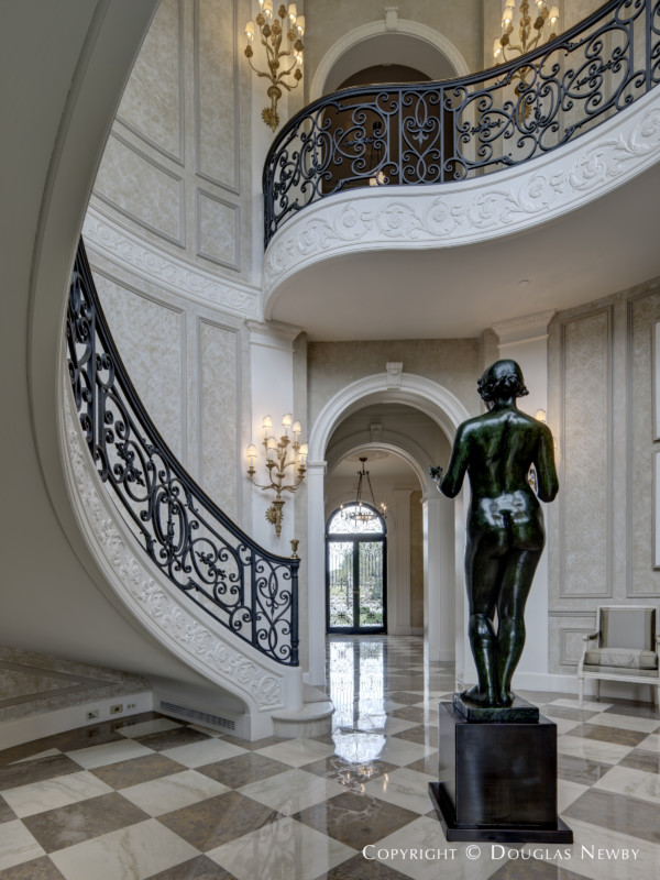 Statue in the Foyer of the Crespi Hicks Estate Home