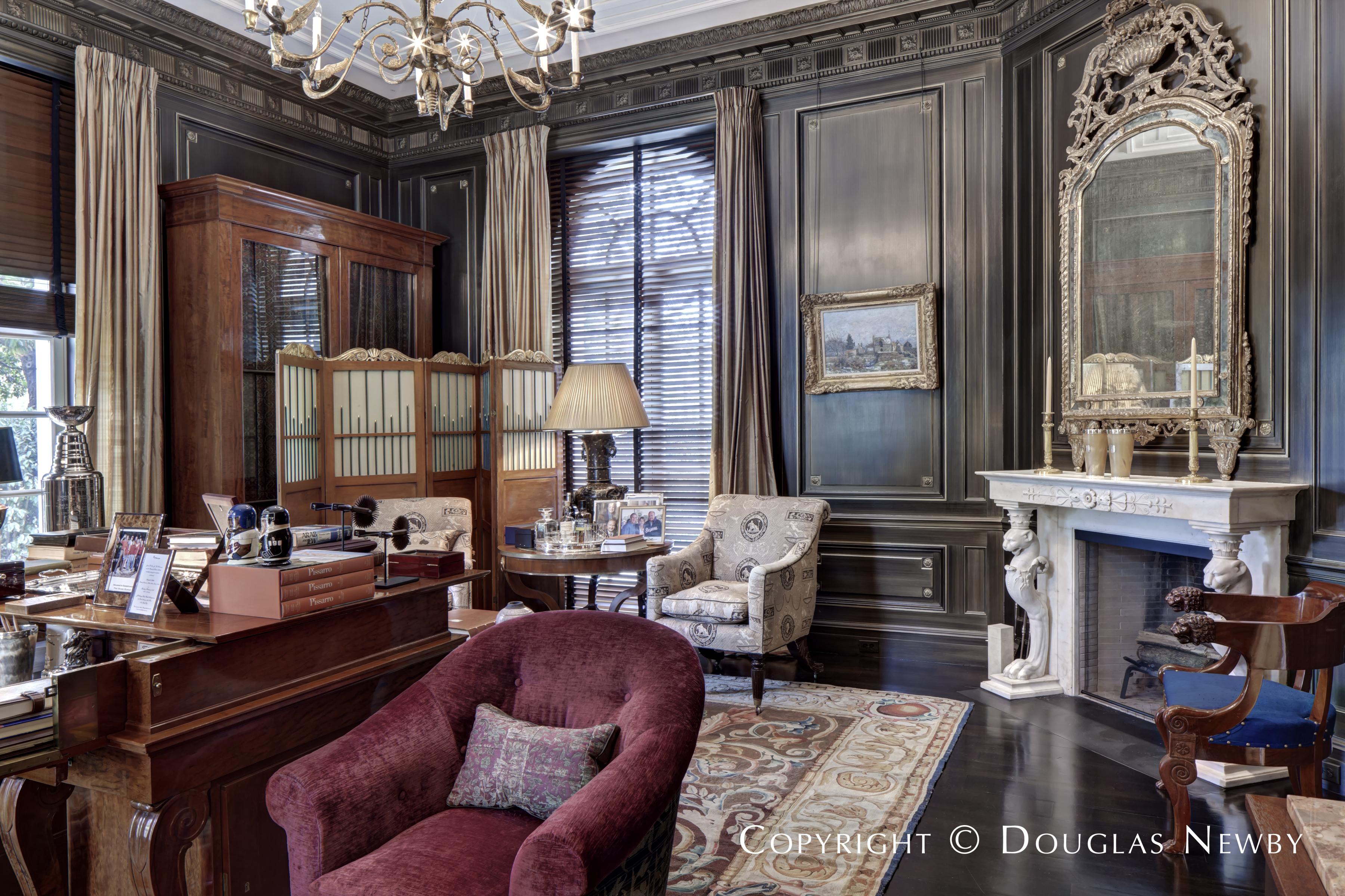 Study in the Crespi Hicks Estate Home in Mayflower Estates