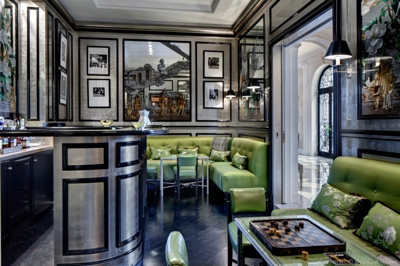 Art Deco bar in the Crespi Hicks Estate home