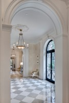 Corner View of a Hallway in the Crespi Hicks Estate Home in Preston Hollow