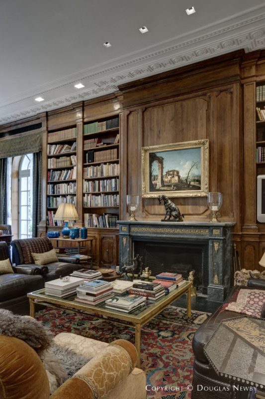 Library in the maurice fatio designed crespi hicks home in mayflower estates photograph 19328 - Newby house interiors ...