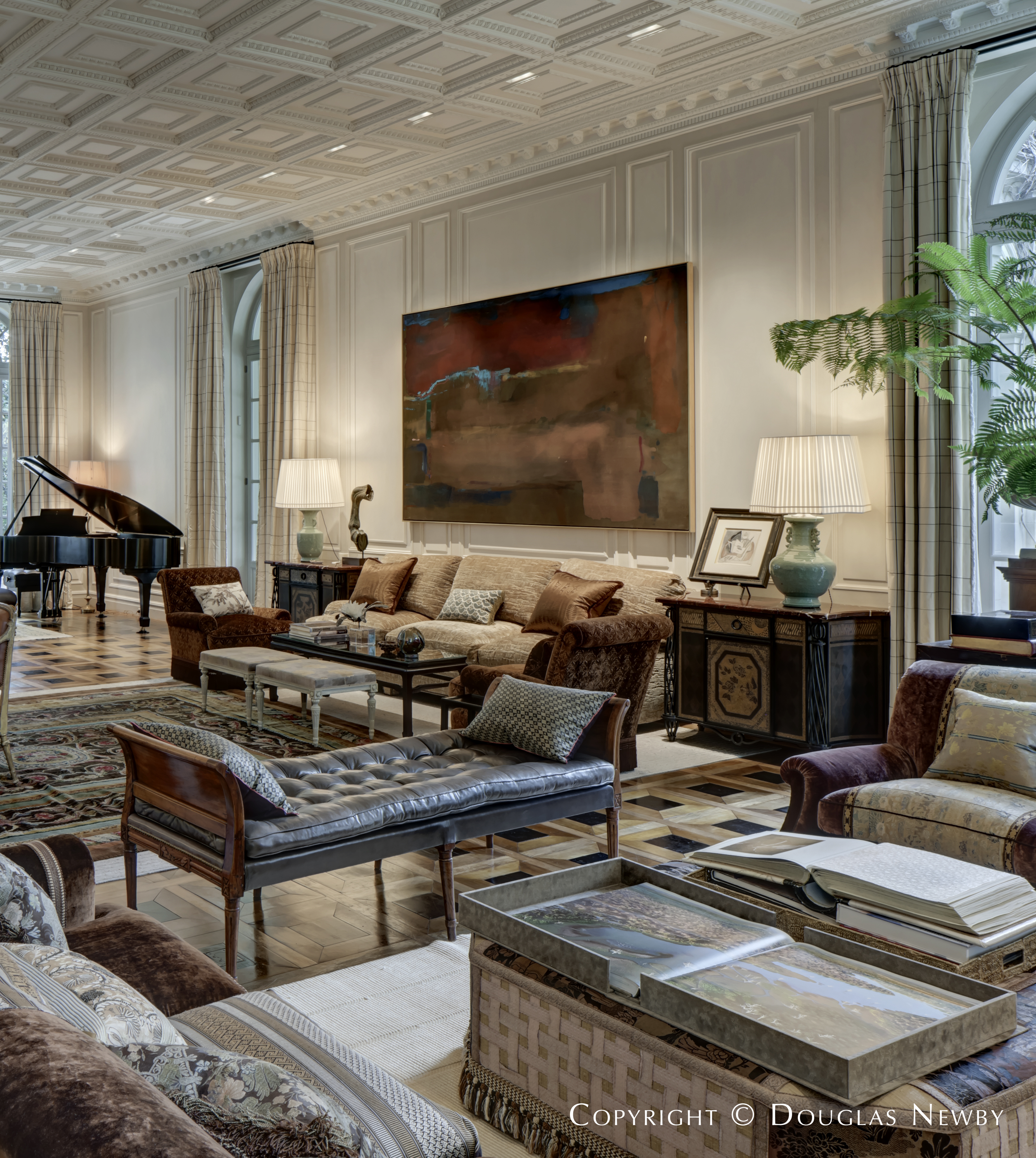 Living Room in Maurice Fatio Designed Home