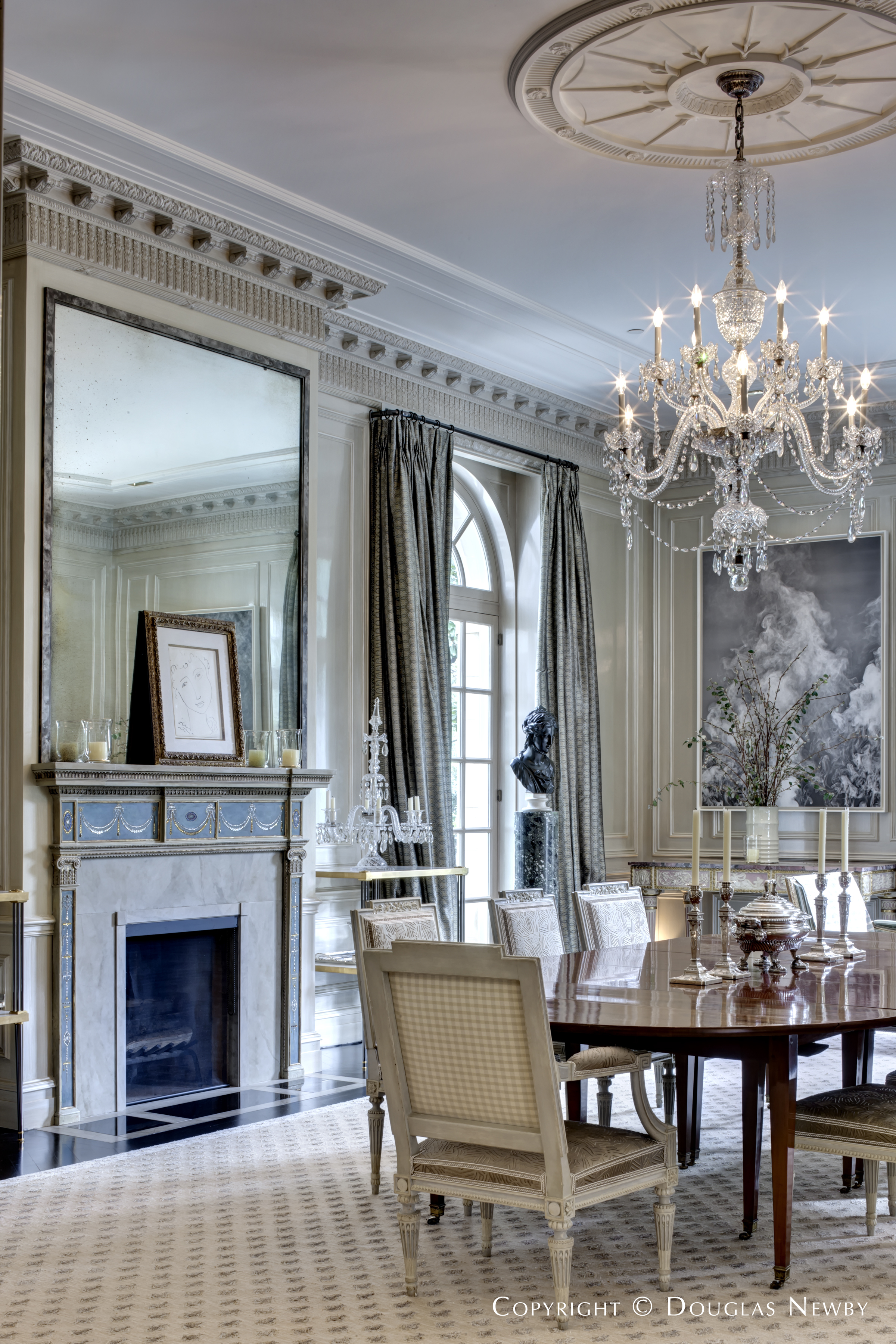Mirror Over Fireplace in Crespi Hicks Dining Room