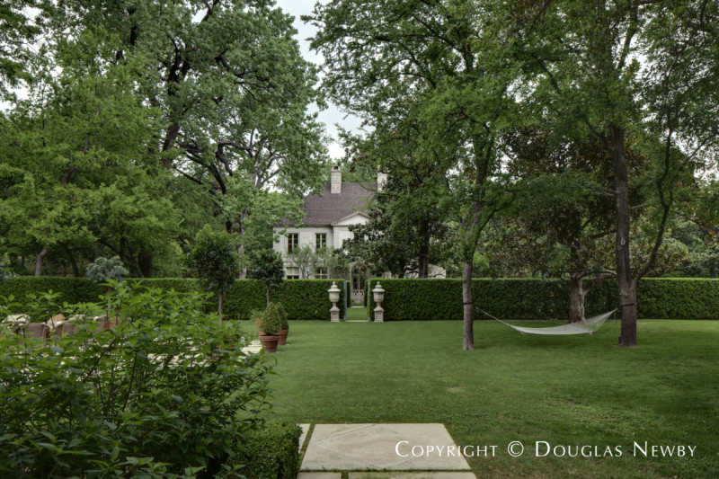 Gardens Outside Pool House in Preston Hollow