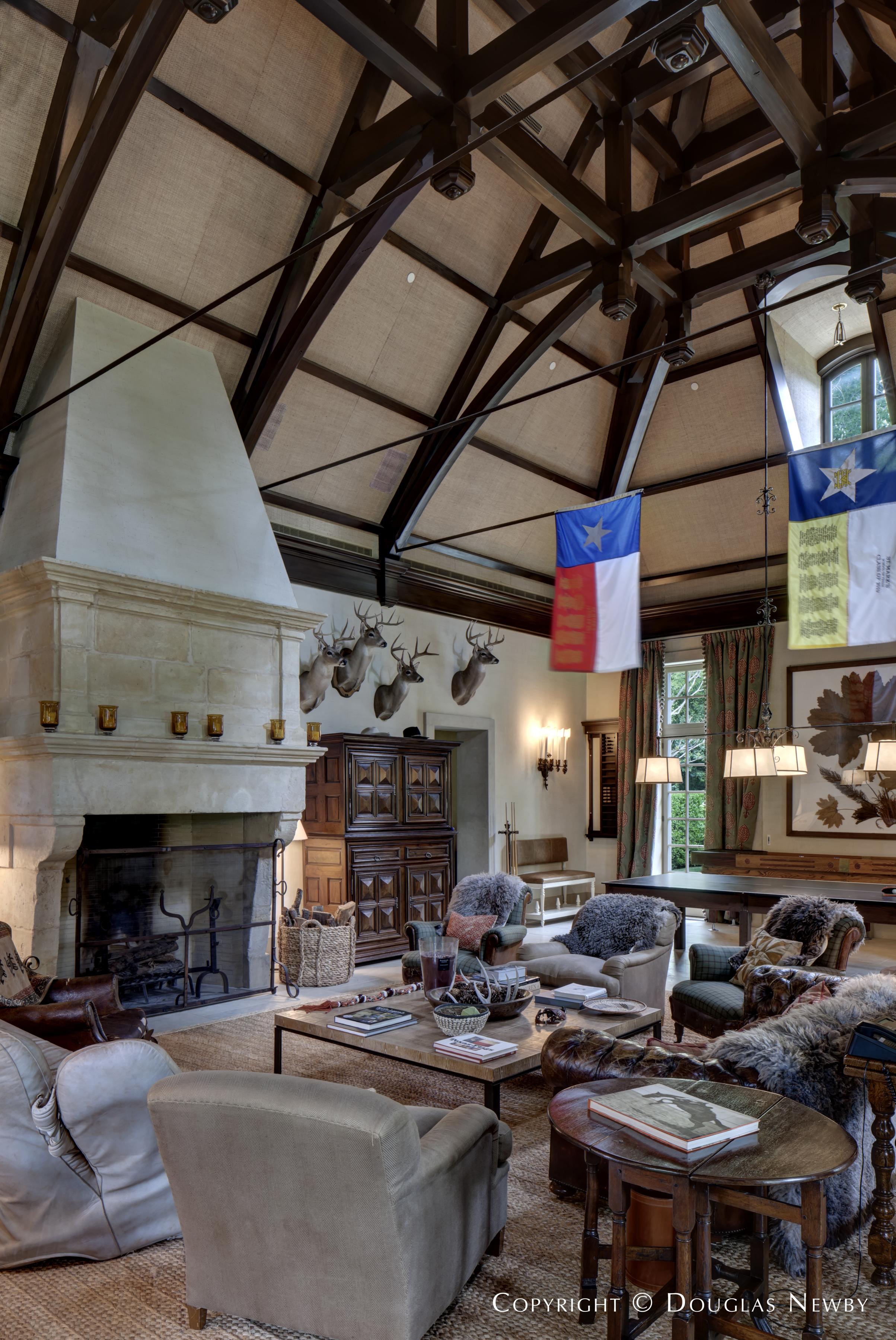 Inside Dallas Estate Property Pool House