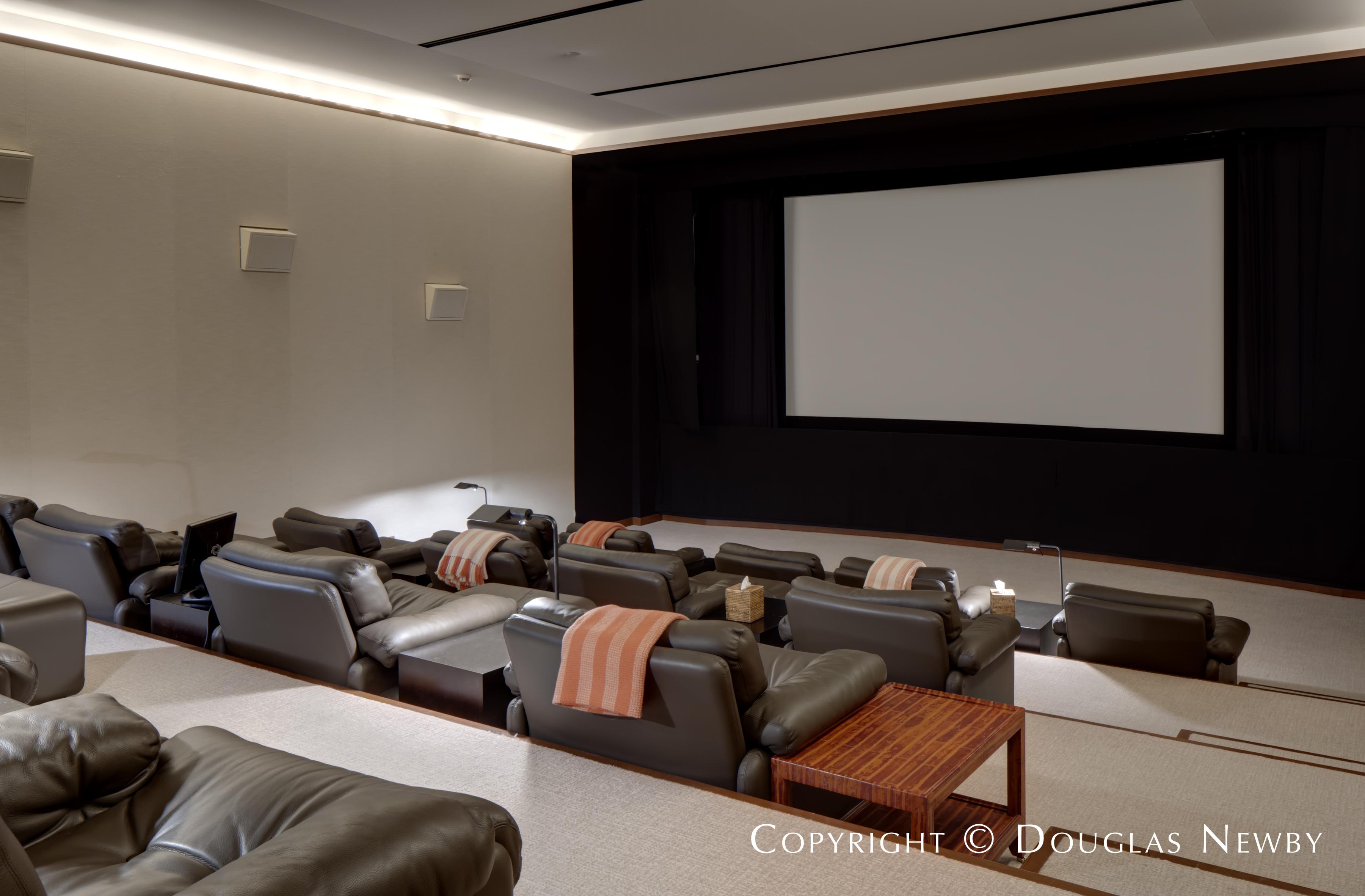 Private Theatre of Dallas Estate Home