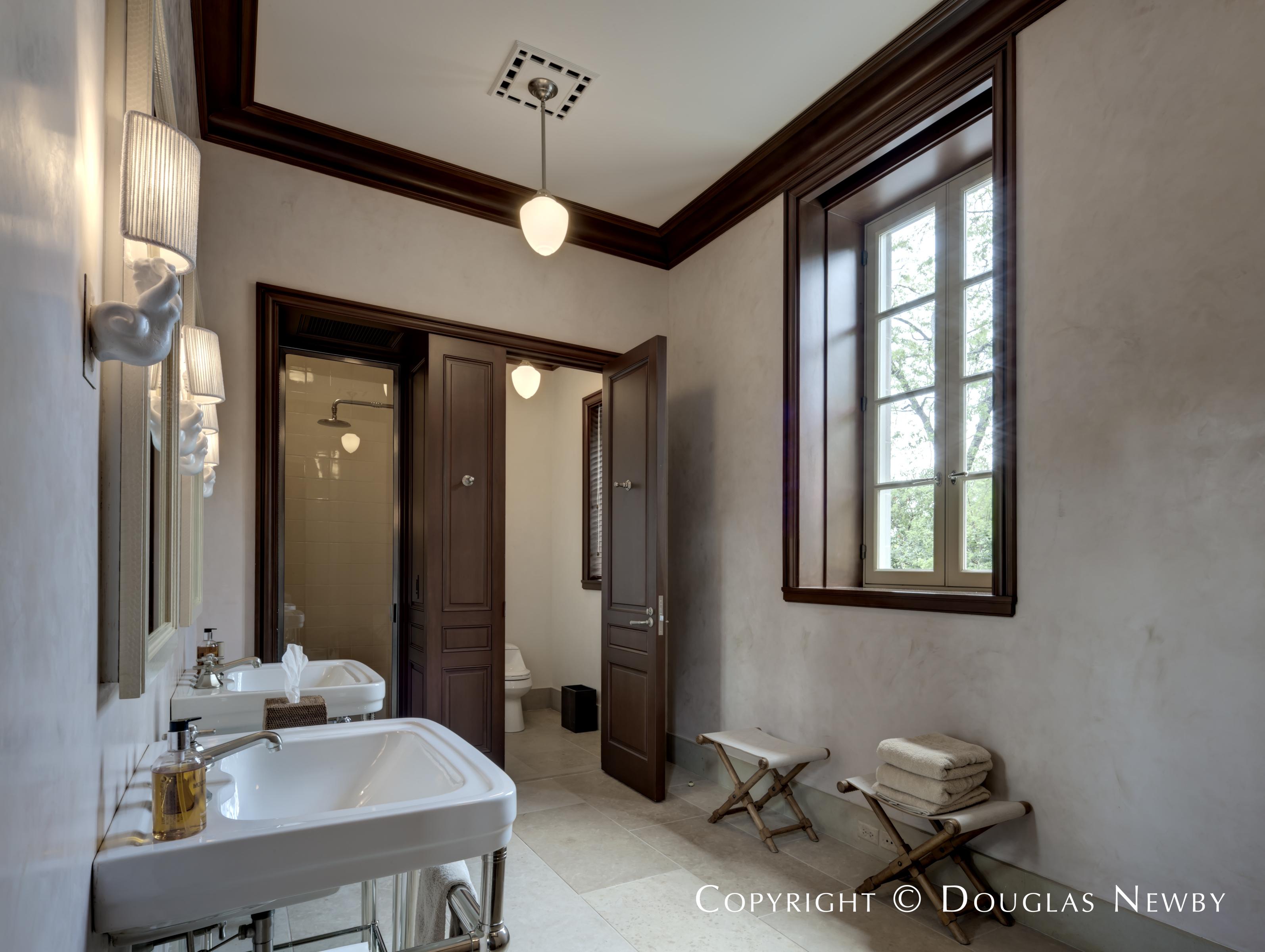 Preston Hollow Pool House Bathroom