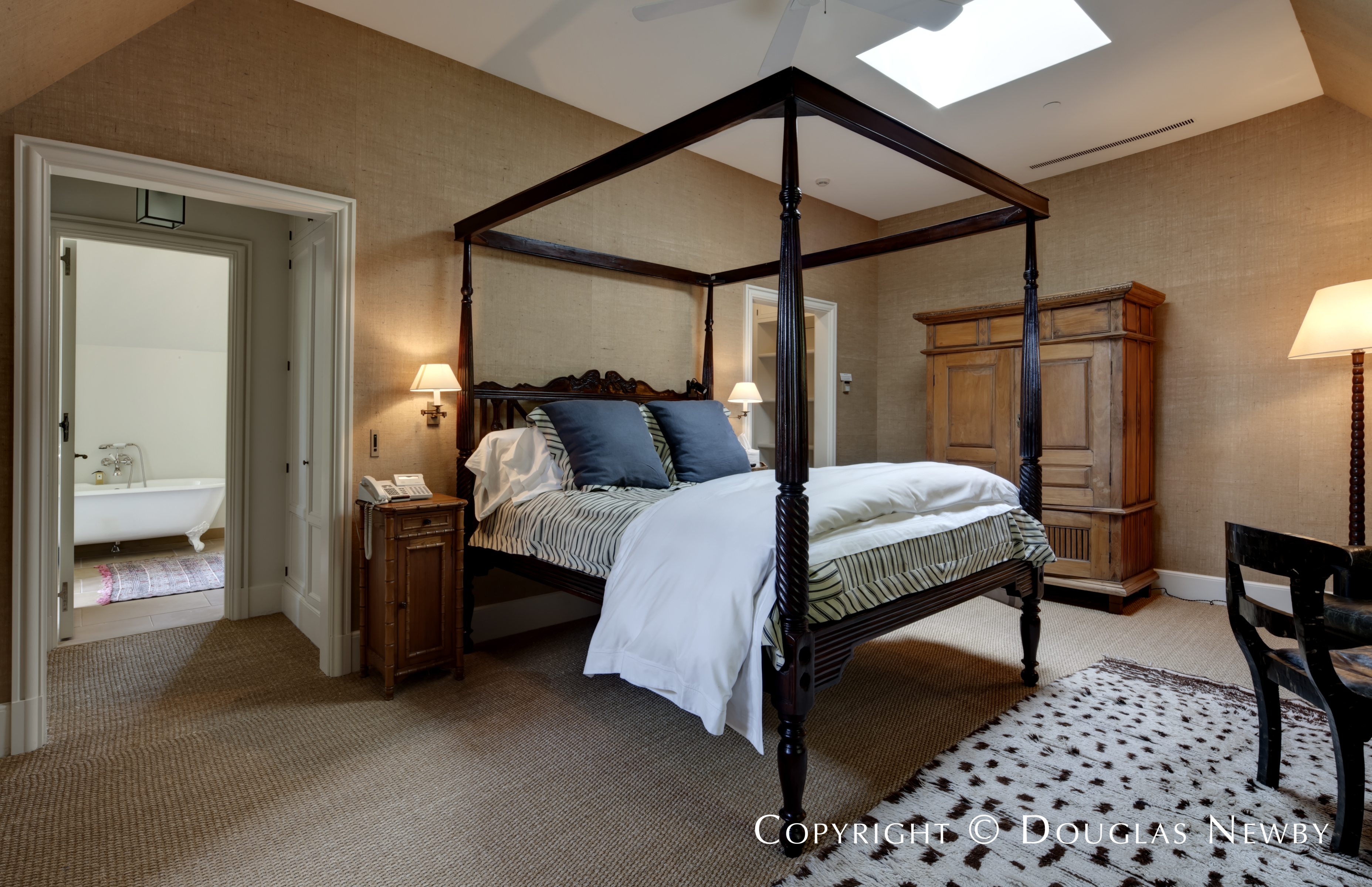 Bedroom of Dallas Estate Pool House
