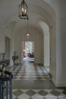 Hallway in the Crespi Hicks Estate Home in the Preston Hollow Neighborhood