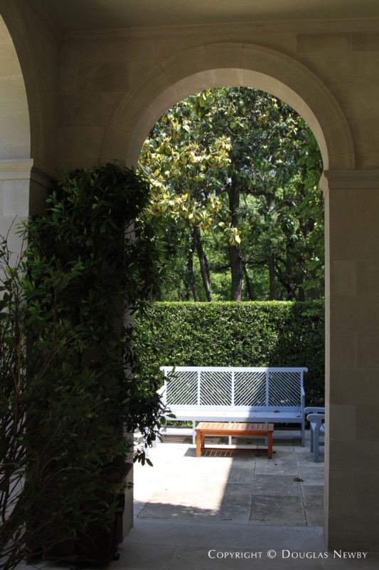 North Arch of West Loggia Framing View of Forest