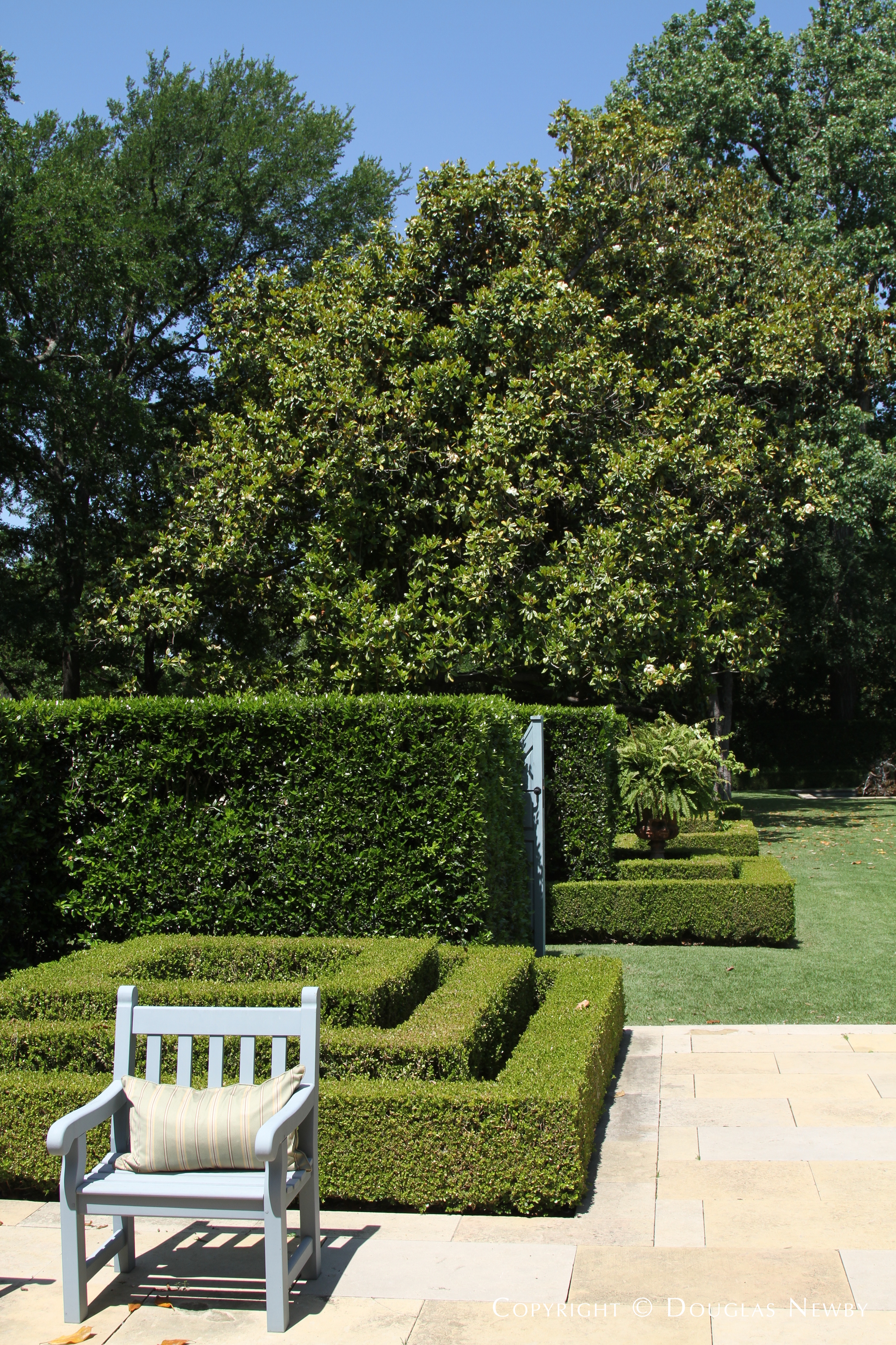 West Loggia Garden Gate to Pool House