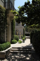 View of the Crespi Hicks Estate Home as One Comes Around the Corner from the West Loggia