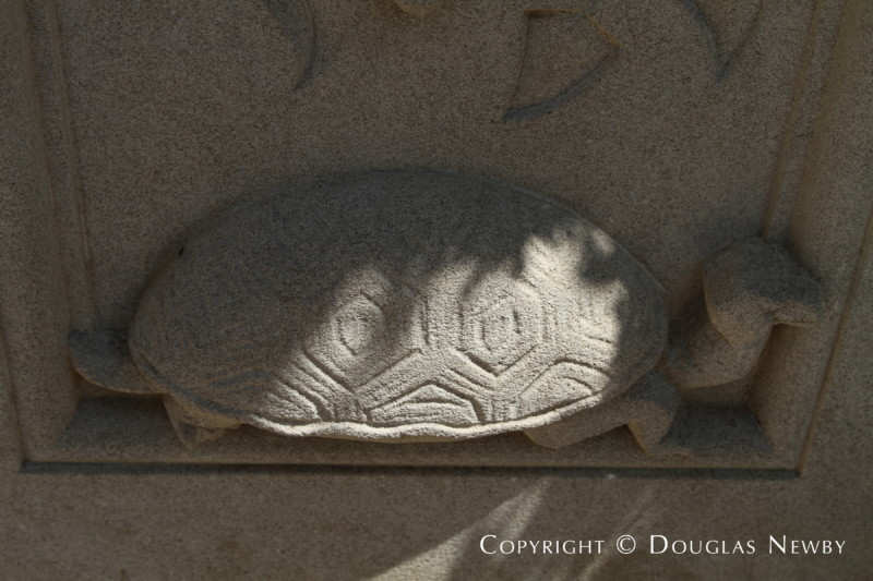 Carved Stone Detail Found on Front Facade of Crespi Hicks Estate