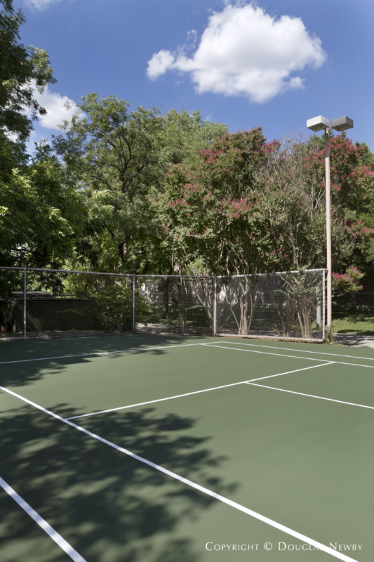 Tennis Court in Preston Hollow Estate Home