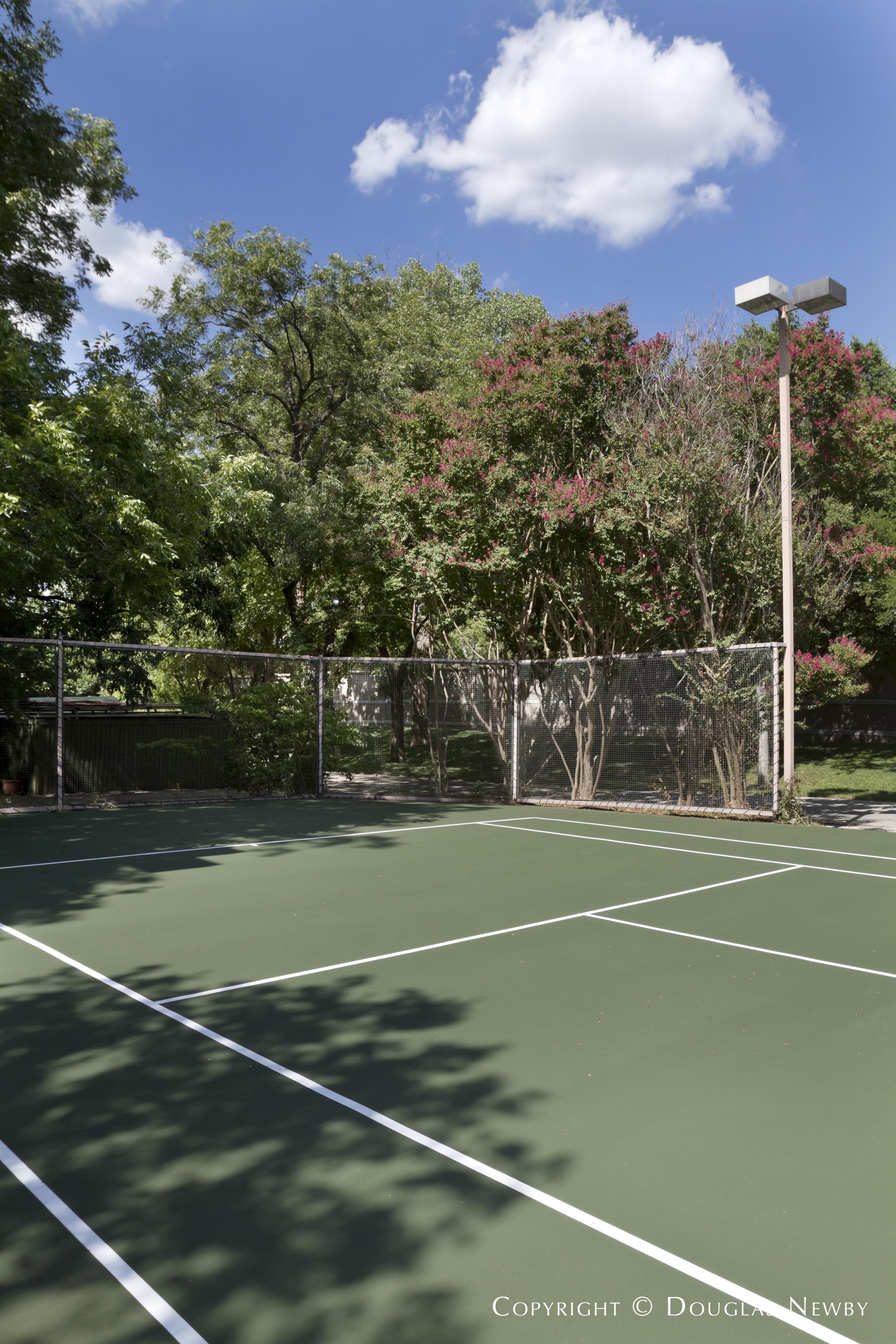 Tennis Court in Preston Hollow Estate Home