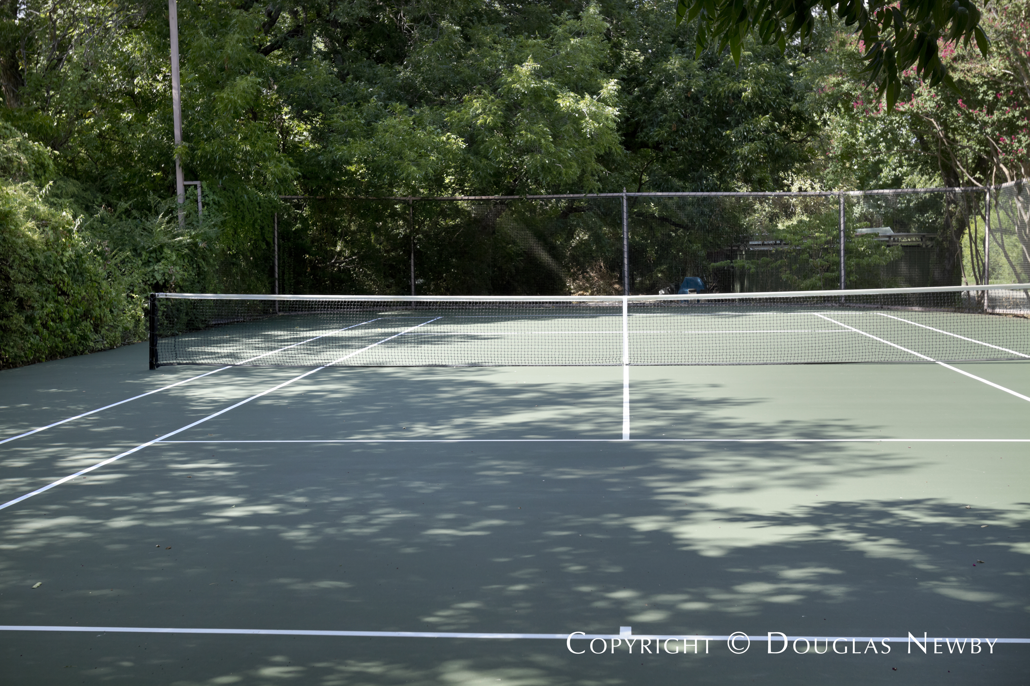 Tennis Court at Dallas Estate Home