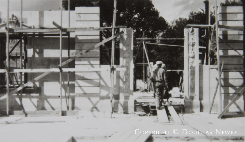 Original Crespi Estate Under Construction
