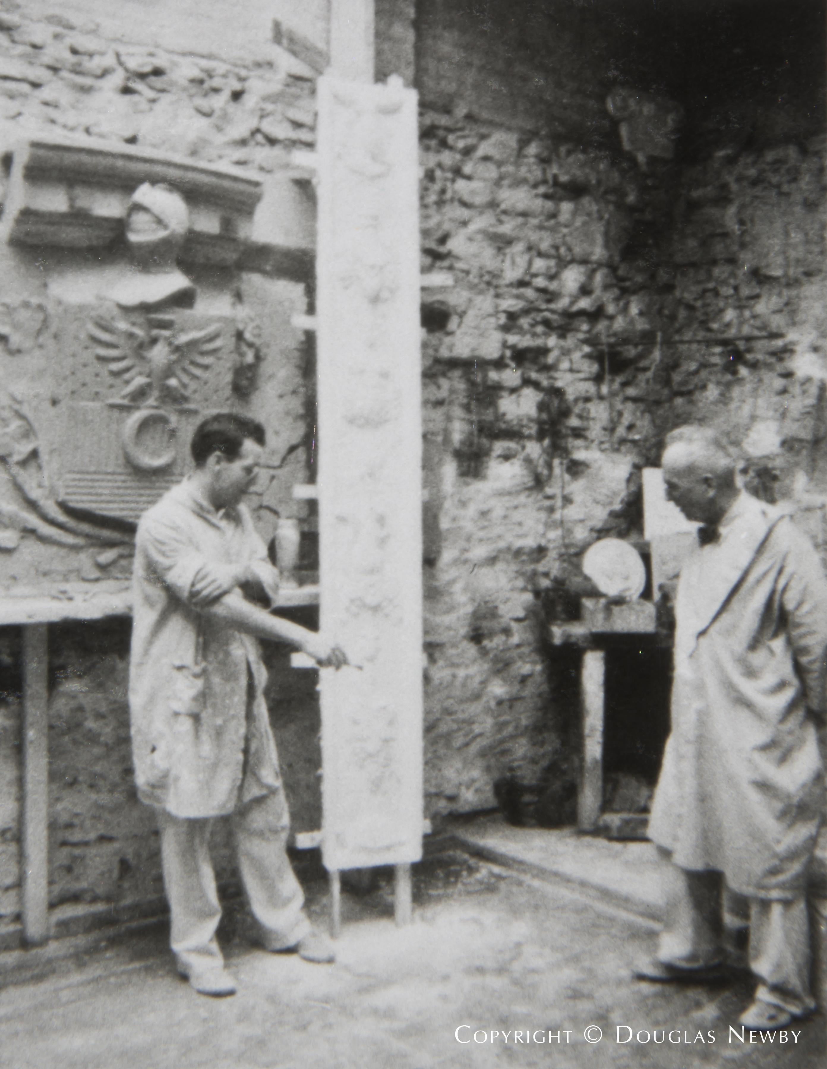 Original Stonecarver at Crespi Estate