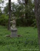 Statue in Wilderness on Dallas Estate Property