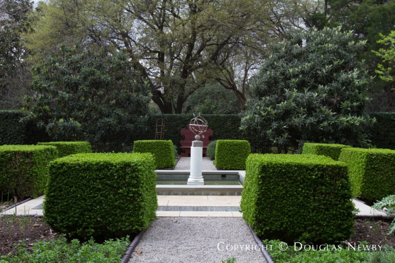 Art in Gardens of Dallas Estate Home
