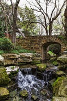Creek and Bridge on Dallas Estate Property
