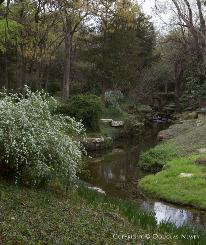 Winding Creek Running Through Dallas Estate Home