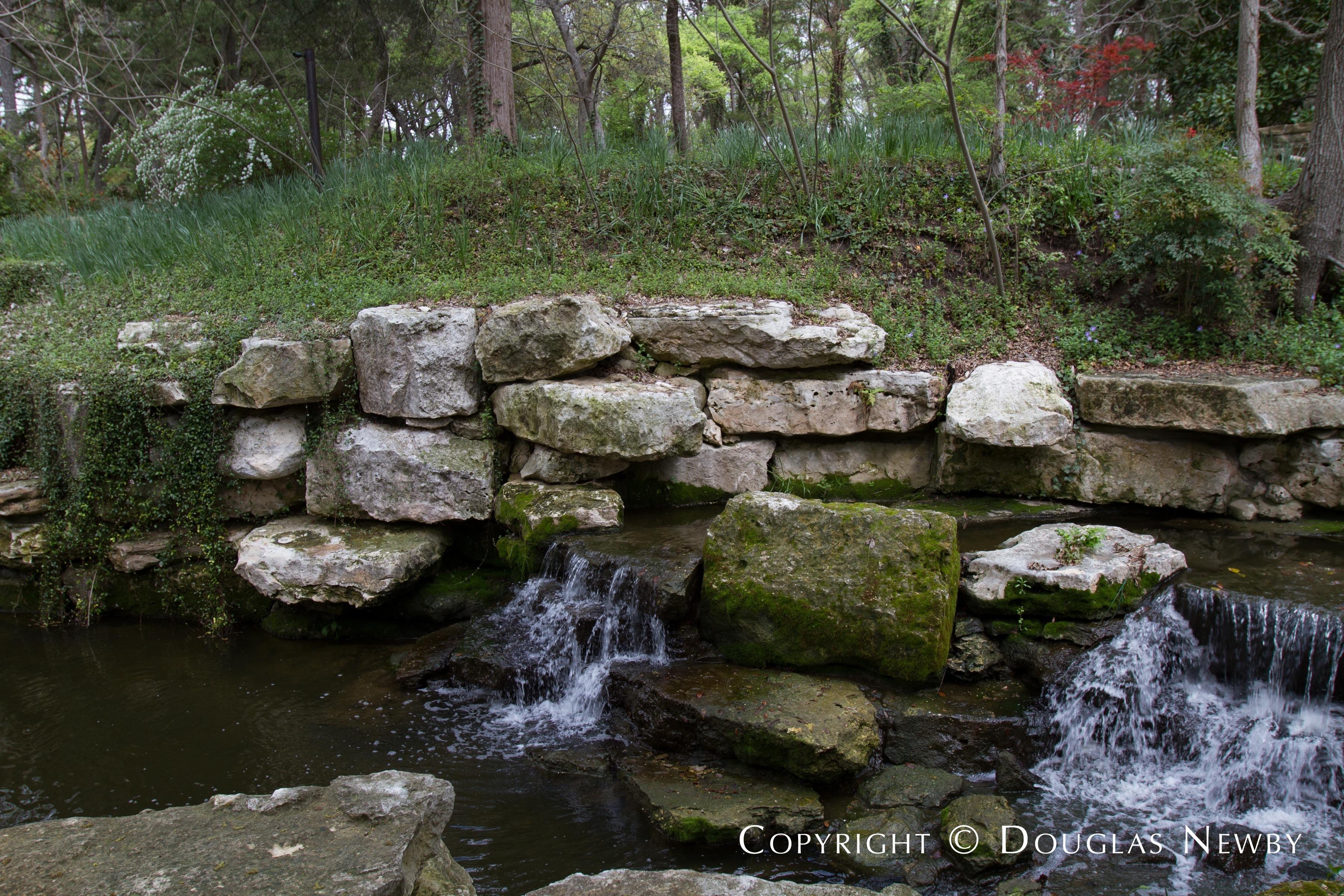 Stream in Forest on Dallas Estate Property
