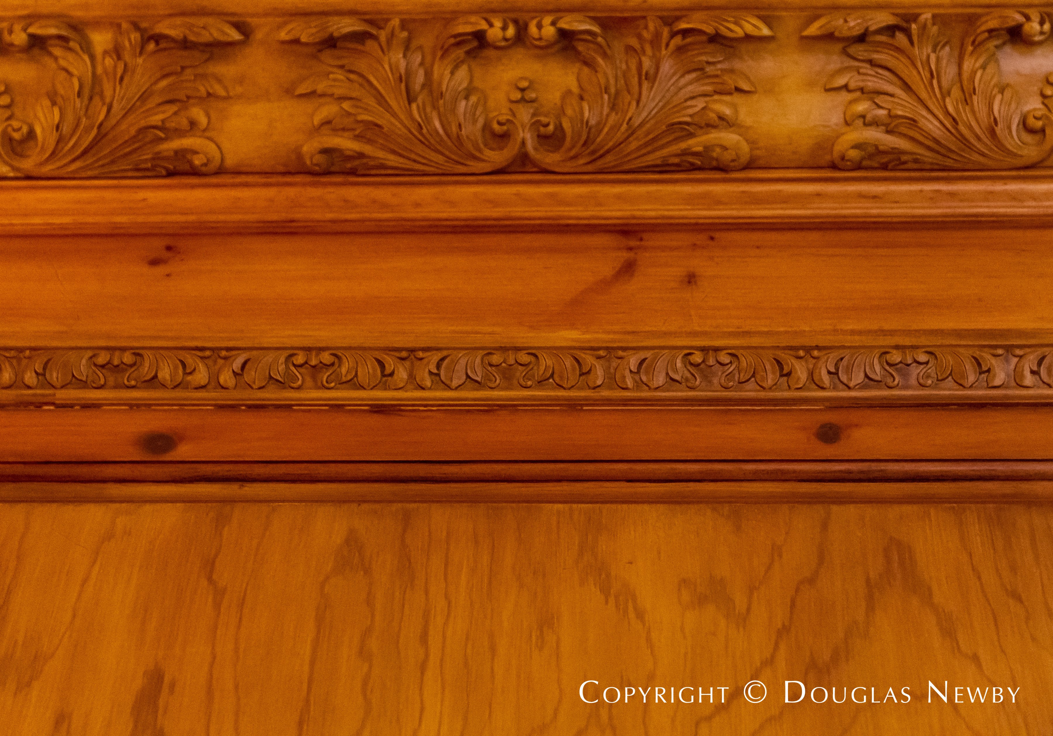 Intricate Wood Carvings in Maurice Fatio Designed Home in Mayflower Estates