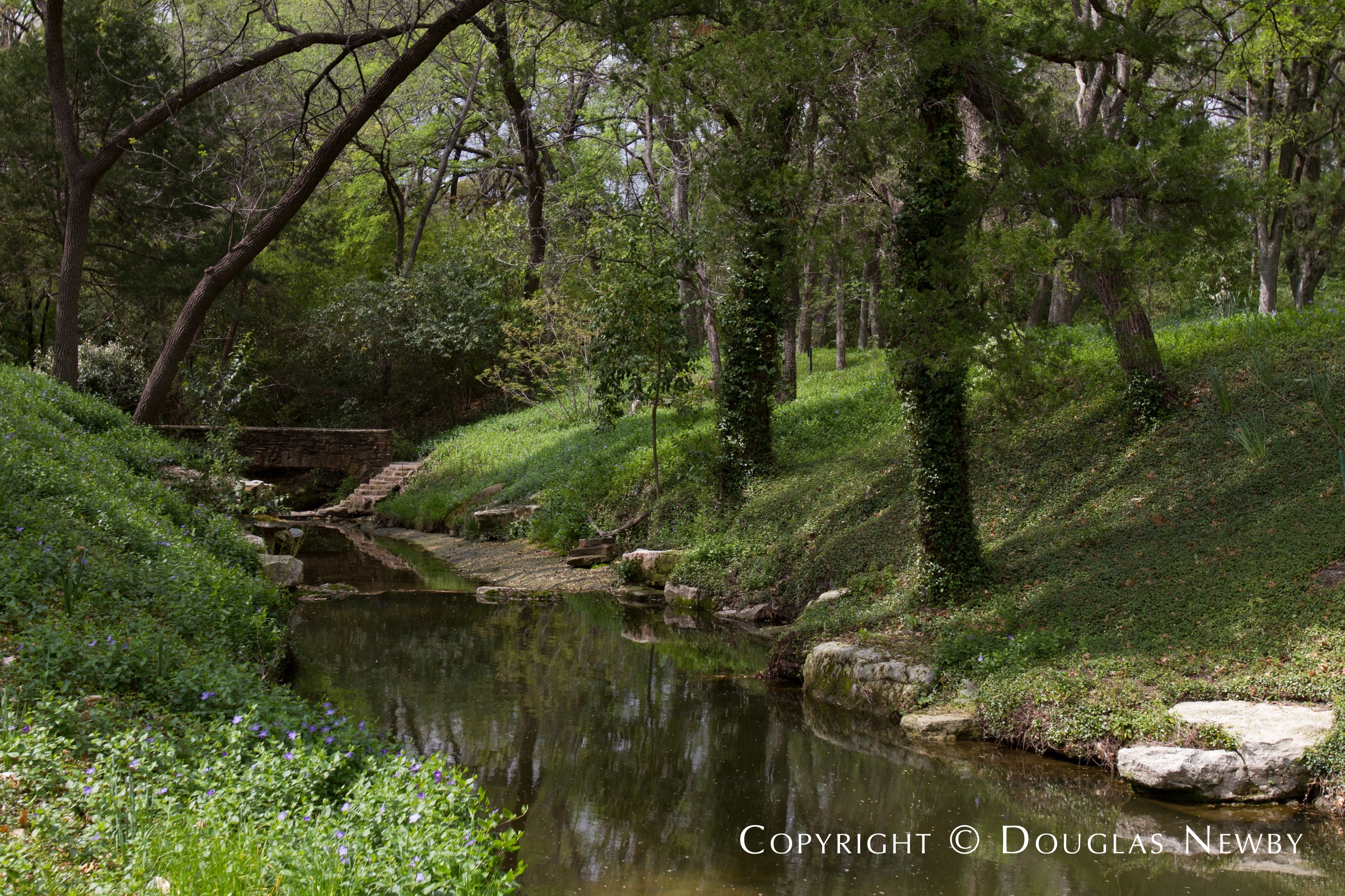 Stream Running Under Stone Bridge