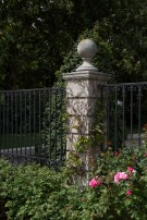 Column and Gate Outside Dallas Estate Home