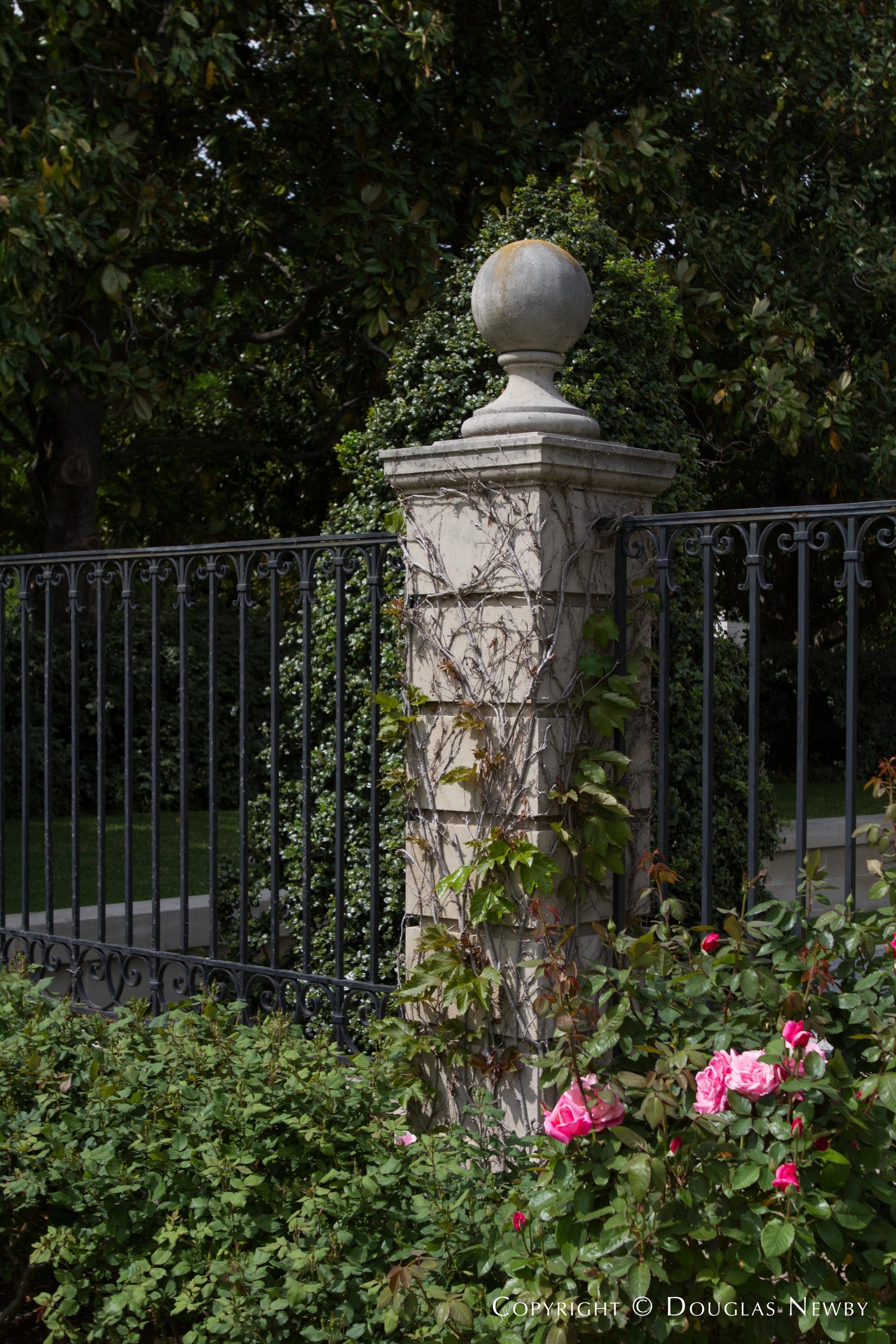 Column and Gate Outside Dallas Estate Home