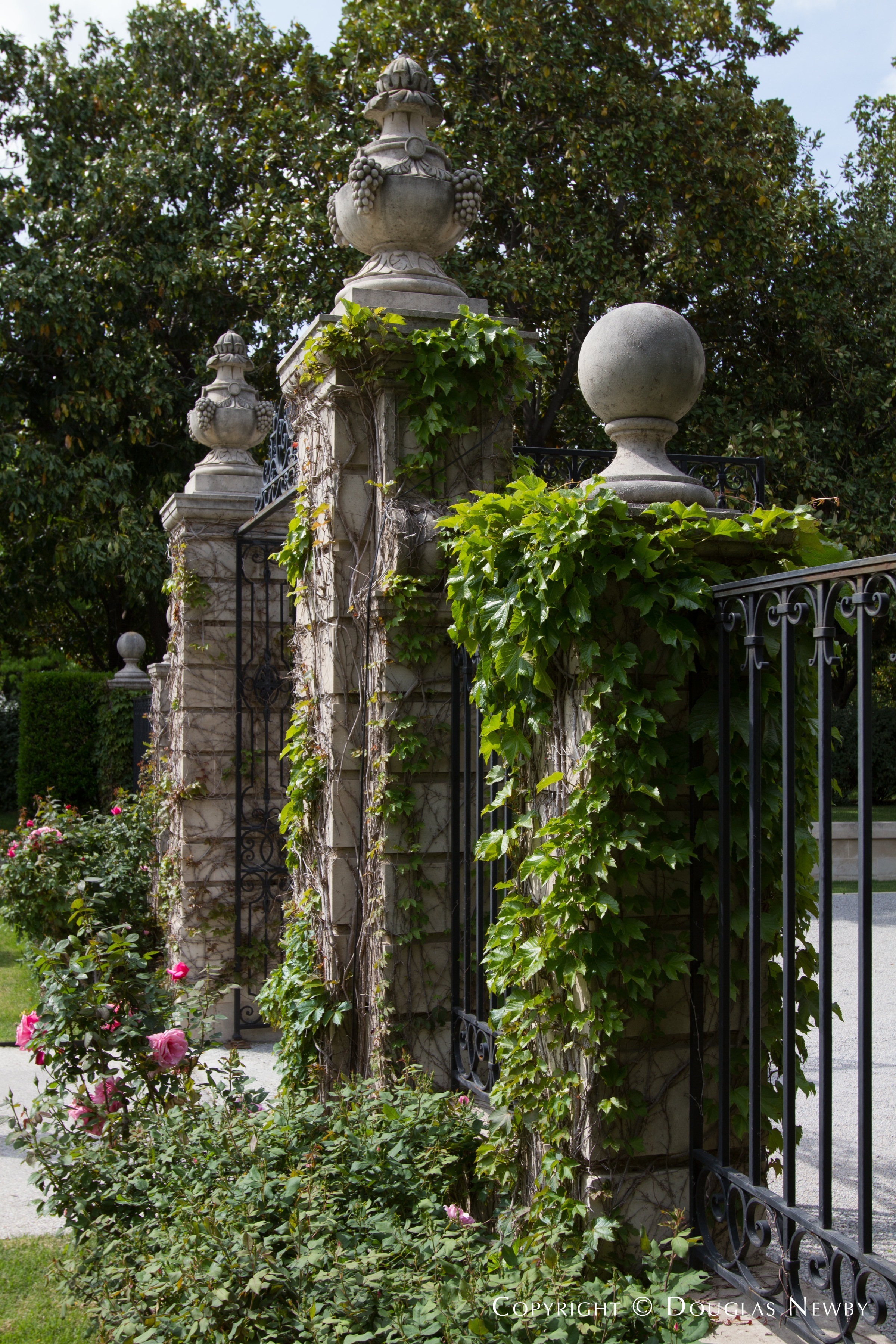 Gate Entrance of Preston Hollow Estate Home