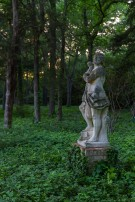 Statue During Sunset on Dallas Estate Property