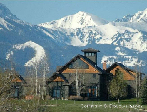 Art reese designed hawthorn creek ranch in bozeman montana for Montana ranch house