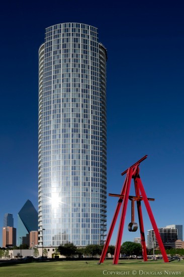 Modern Building in Downtown Dallas - Museum Tower