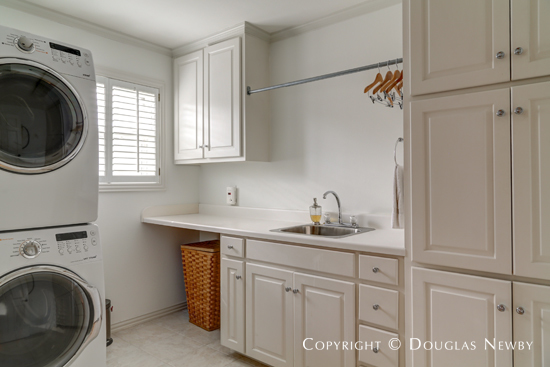 Utility Room of Home in Fifth Section of Highland Park Neighborhood West of Preston