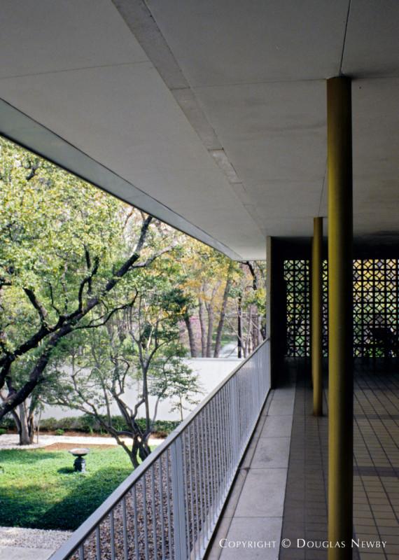 Balcony of Edward Durell Stone Designed Home