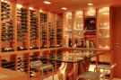 Wine Cellar in Glen Abbey Modern Home in Dallas