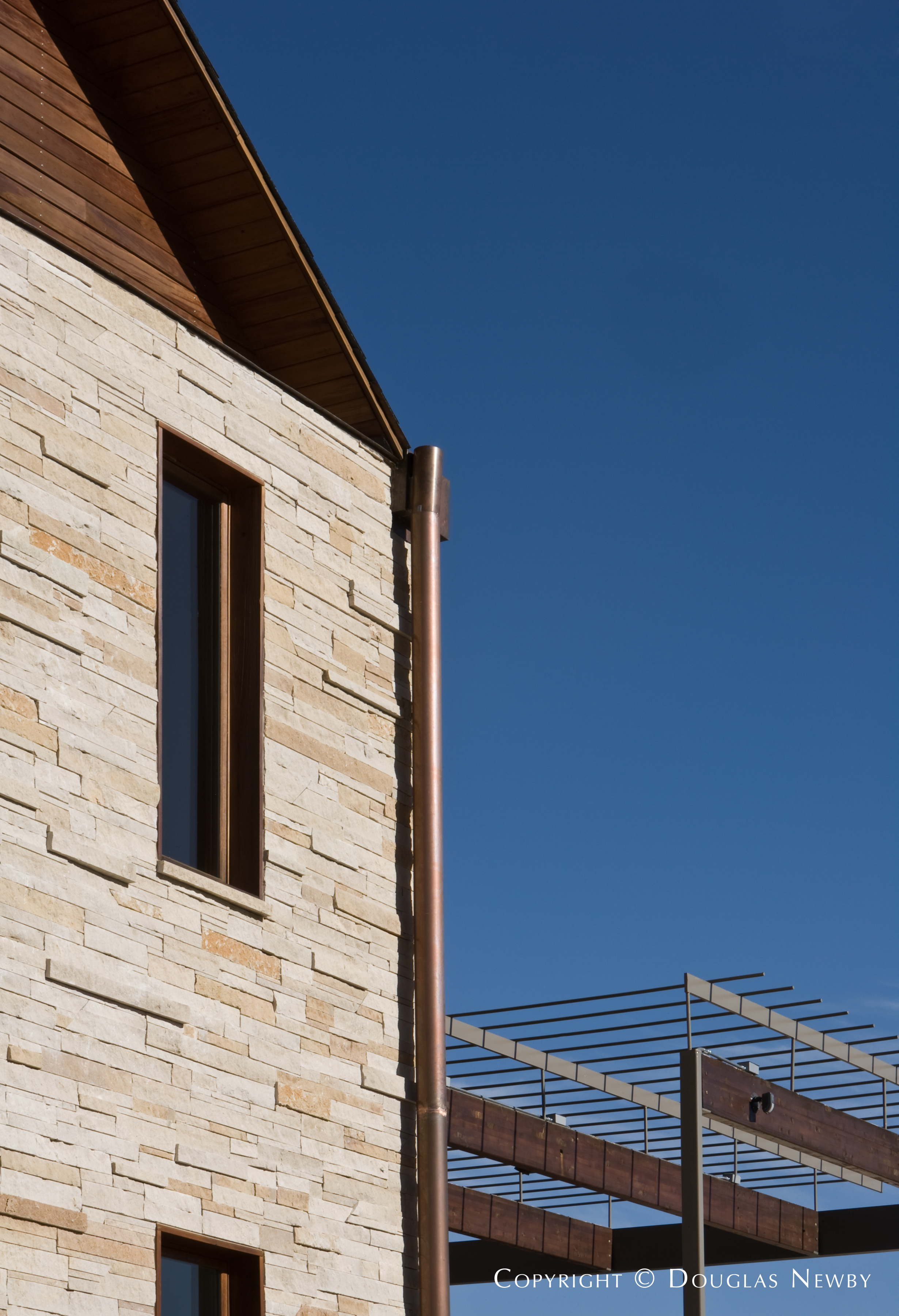 View of Beautiful Stone Work on Corner of Glen Abbey Estate Home