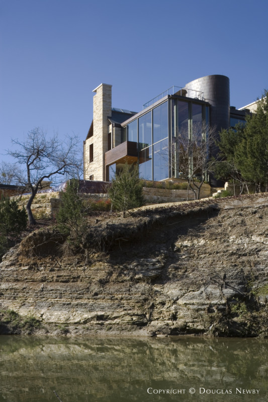 Architect Graham Greene Sited Home on Bluff Overlooking White Rock Creek and Nature Preserve