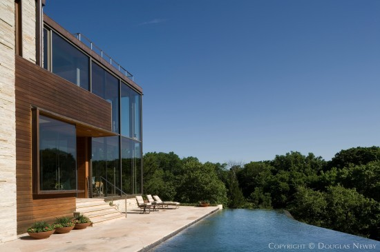 Negative Edge Pool Behind Oglesby Greene Designed Modern Home in Glen Abbey