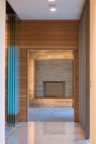 Sliding Glass in Hallway of Modern Home in Glen Abbey