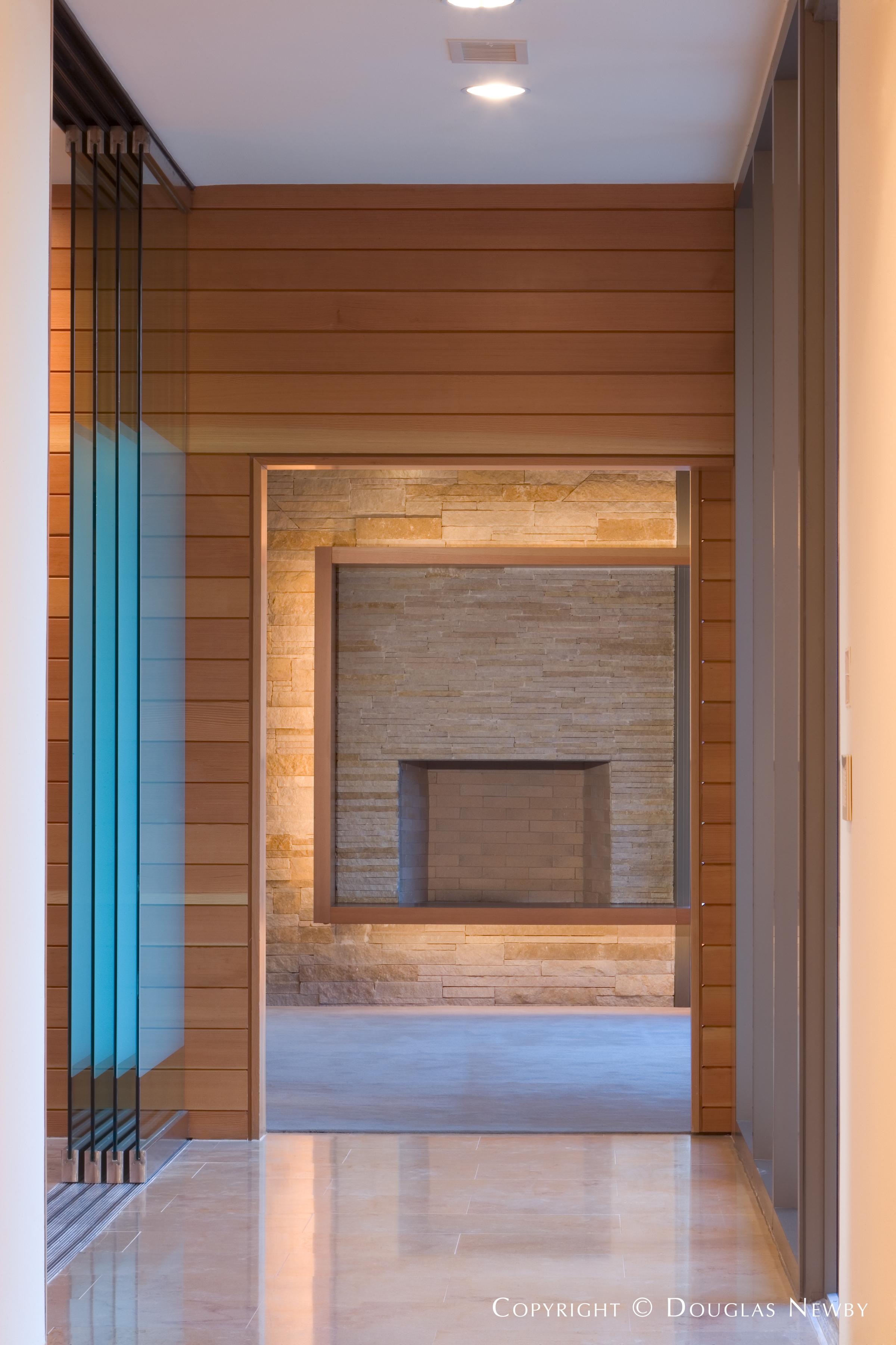 Sliding Glass in Hallway of Modern Home in Glen Abbey