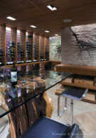 Elegant Wine Cellar in Glen Abbey Contemporary Estate Home