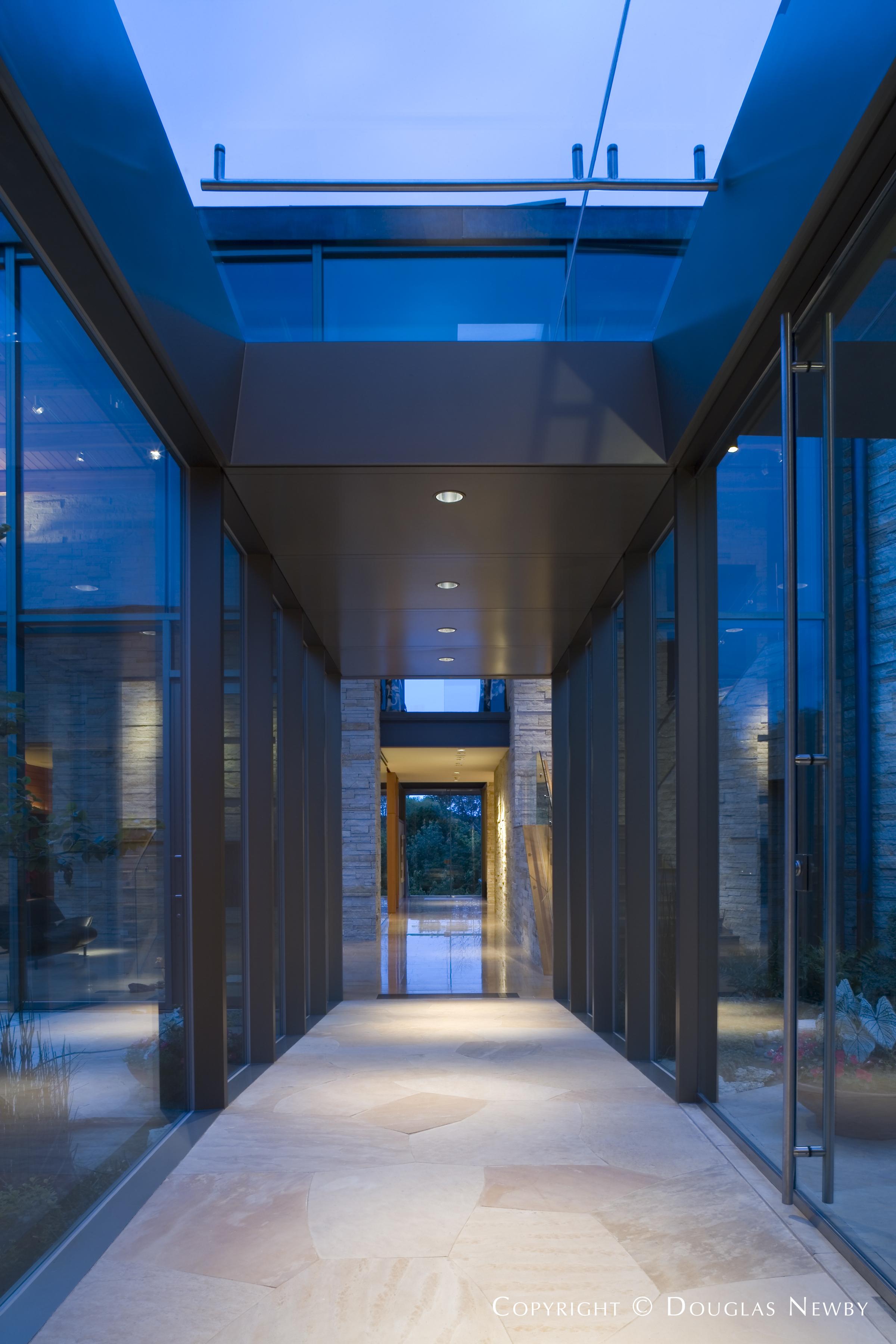 Center Hall of Modern Dallas, Texas Home
