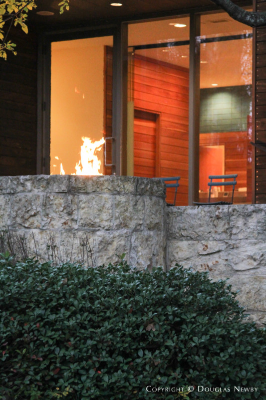 Spa Looking Into Master Bathroom of Dallas Modern Home