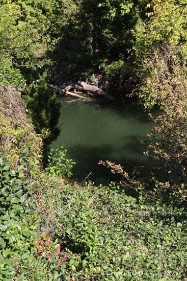 View of Creek From Overhang on Glen Abbey Real Estate